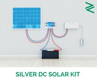 50 W DC Solar Silver Kit