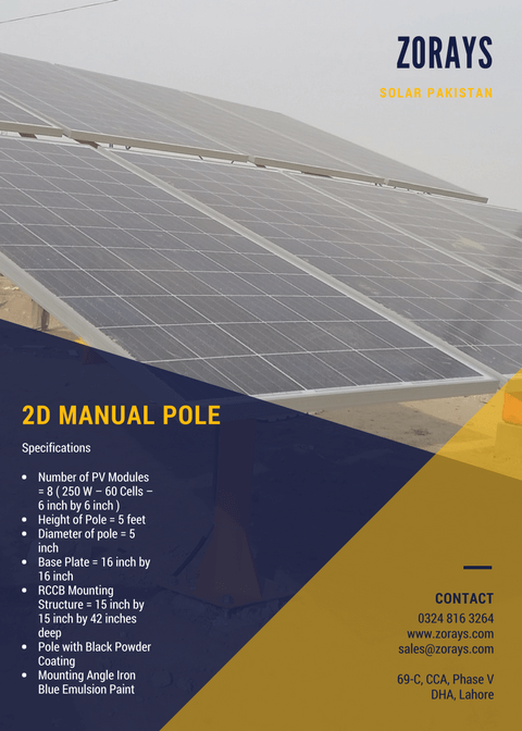 Zorays Solar Mechanical Poles Specifications