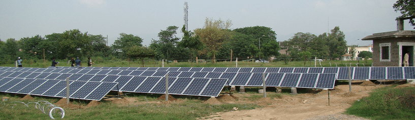 Ground Mounted Solar Structure facing true north